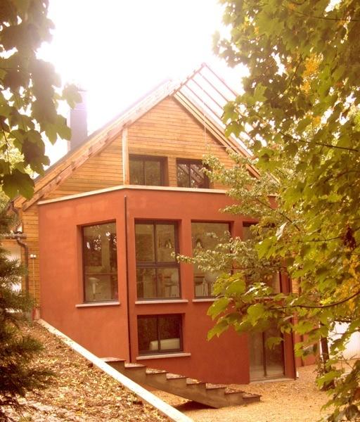 Architecture oise extension bois et thermopierre dans l for Construction maison contemporaine oise