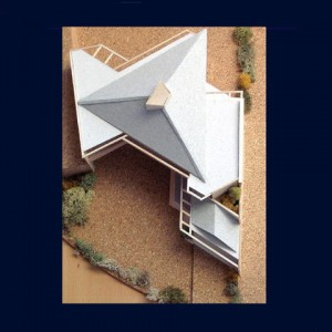 Maison architecte organique Ile de France - Maquette