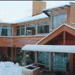 Maison architecte organique Ile de France - sous la neige...