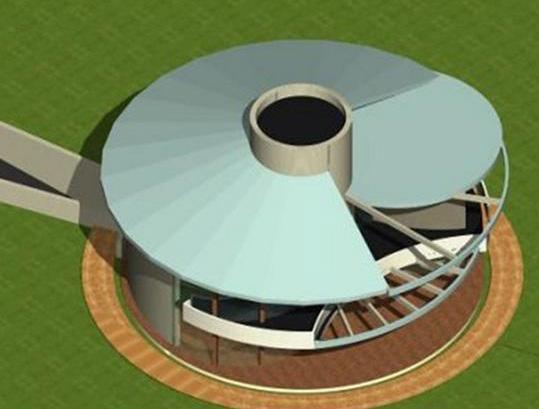 Maison tournante1 architecture organique - Architecture organique frank lloyd wright ...