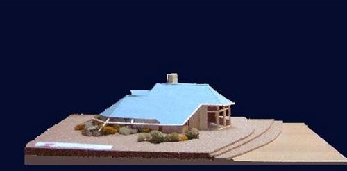 Maquette maison architecte bois