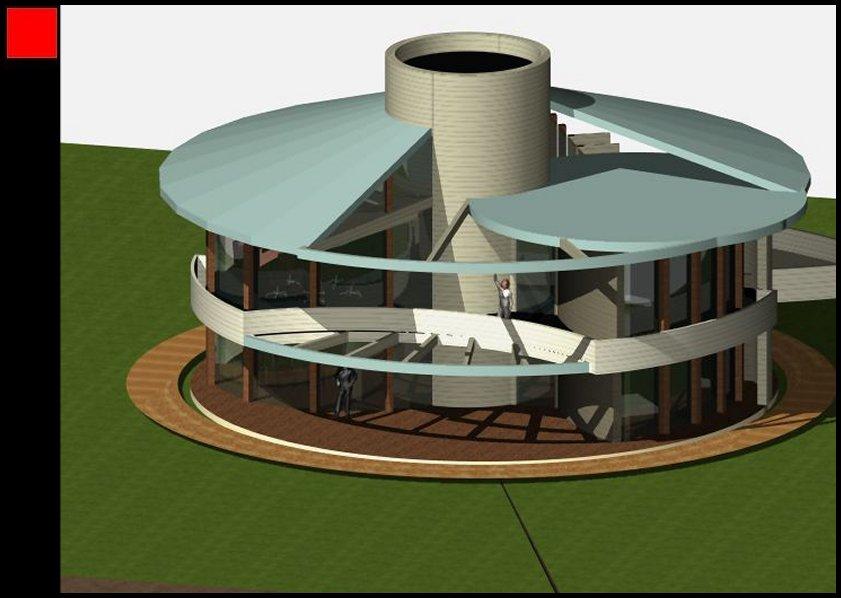Maison bois tournante architecture organique - Design organique ...