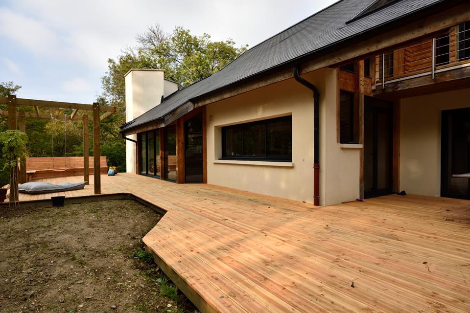 L echauguette architecture seine et marne maison for Maison ossature bois marne
