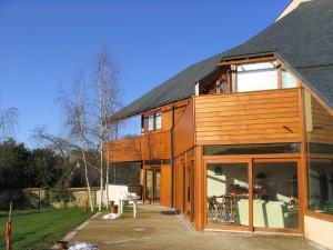 Maison Bois - Vue de la terrasse sud