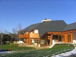 Maison Bois - Vue vers l'entrée