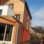 Maison contemporaine en Seine et Marne - En fin de chantier