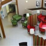 Le Forum vu des coursives d'accès au restaurant d'étage