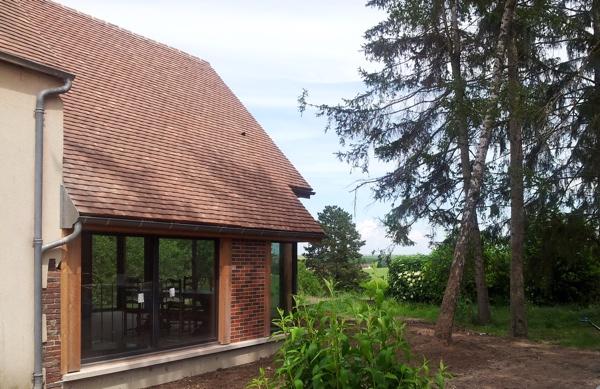 Architecture Bourgogne  Extension Bois DUne Maison Traditionnelle