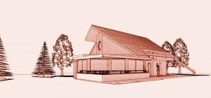 Maison architecte bois Morvan