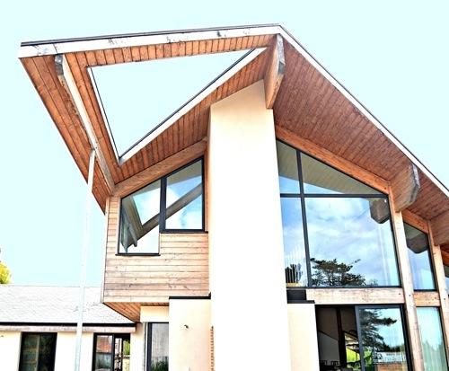 amarine architecture charente maritime maison contemporaine ossature bois en charente. Black Bedroom Furniture Sets. Home Design Ideas