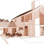 maison contemporaine perspective ouest