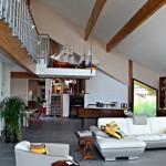 maison contemporaine vue du séjour