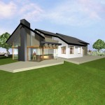 Extension maison bois dans l'Oise - Vue Ouest