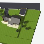 Extension maison bois dans l'Oise - Vue d'avion
