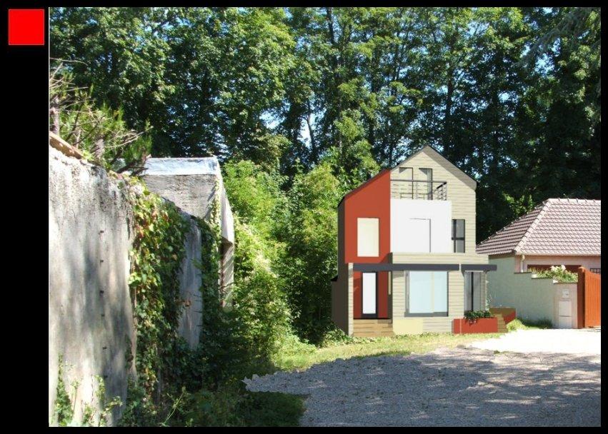Marne – Maison d'architecte Seine et Marne en Thermopierre et Bois