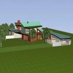 Maisons Bois jumelées dans le Val d'Oise Vue d'avion