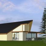 Maison mixte dans le Morvan Vue latérale vers l'espace cuisine