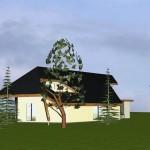 Maison mixte dans le Morvan Vue nord
