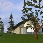 Maison mixte dans le Morvan Vue secondaire  vers séjour