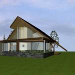 Maison mixte dans le Morvan Vue principale  vers séjour