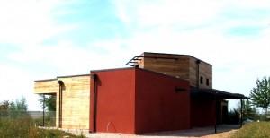 maison architecte bois façade Nord-Est