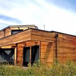 maison architecte bois façade Sud