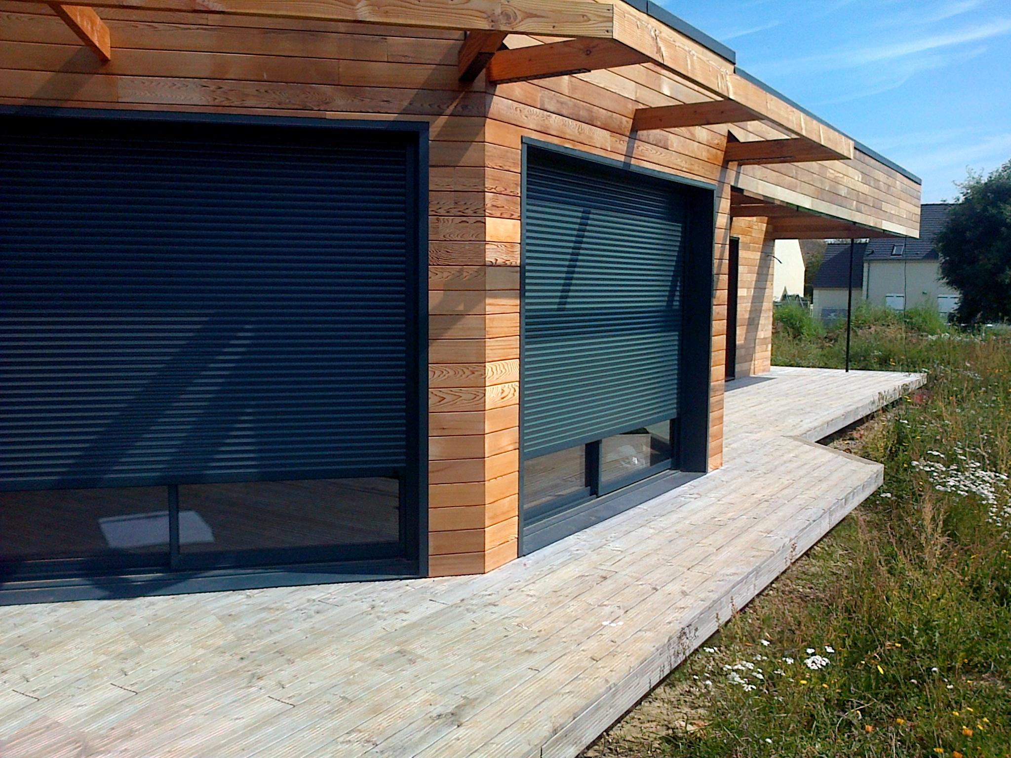 Simple naturelle architecture essonne maison ossature bois rt2012 dans l essonne for Maison bois sud ouest