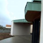 Maison Organique bois et thermopierre en Vendée vue sud vers l'espace de méditation