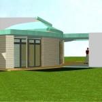 Maison Organique bois et thermopierre en Vendée  vue Ouest en 3D