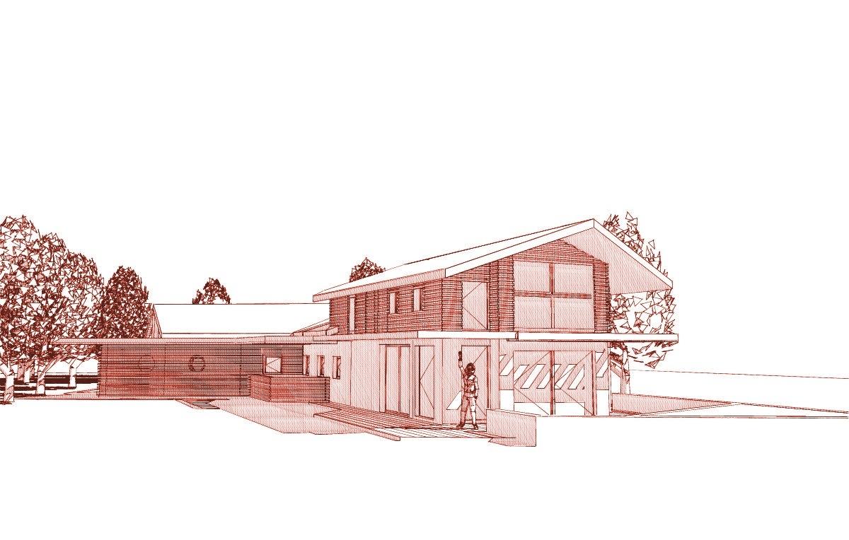 Terre de soleil architecture limousin maison for Architecte 3d bois