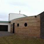 Maison Organique bois et thermopierre en Vendée  vue générale de la façade au nord-ouest