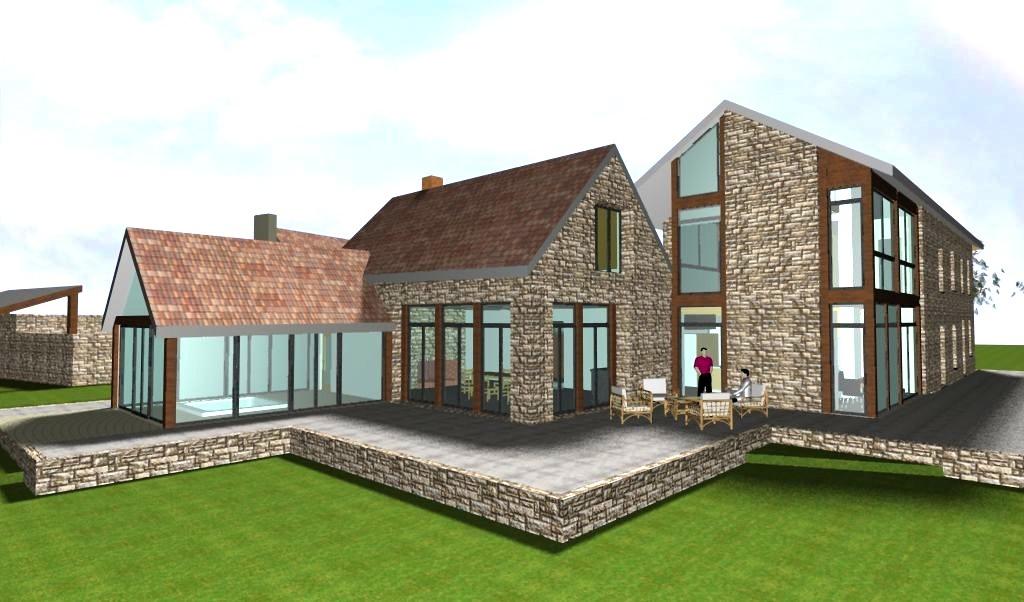 Des bâtiments bioclimatiques ouverts au Sud sur le site