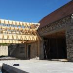 15 avril 2015 - structure bois du local spa prête à recevoir la couverture