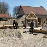 Montage de la structure bois du local SPA