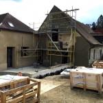 25 Mars 2016 - Le bâtiment des hôtes en rénovation