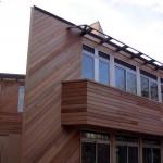 Maison architecte organique Ile de France - Façade Sud- Ouest sur jardin intérieur