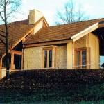 Maison ossature bois et pierre de pays