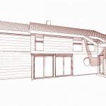 Maison architecte bois et thermopierre dans l'Essonne