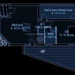 Maison contemporaine en Seine et Marne -Plan du Rez de Chaussée
