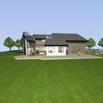 Extension maison bois dans l'Oise - Vue Sud