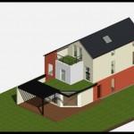 Maison contemporaine en Seine et Marne - Vue 3D projet