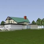 Maisons Bois jumelées dans le Val d'Oise Vue Nord-Ouest