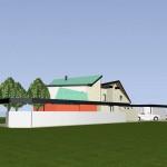 Maisons Bois jumelées dans le Val d'Oise Vue Nord-Est