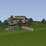 Maisons Bois jumelées dans le Val d'Oise Vue Sud-Ouest