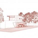 Maison architecte bois vue nord